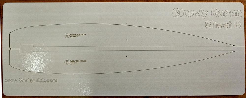 Bloody Baron Laser cut FliteBoard Pro sheet