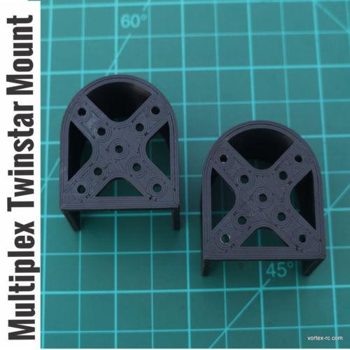 Multiplex Twinstar II Brushless Motor mounts