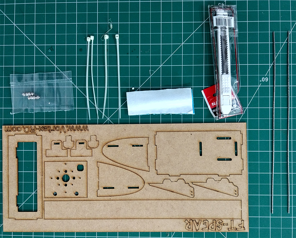 Ft Spear Flying Wing Laser Cut Foamboard Speed Build Kit