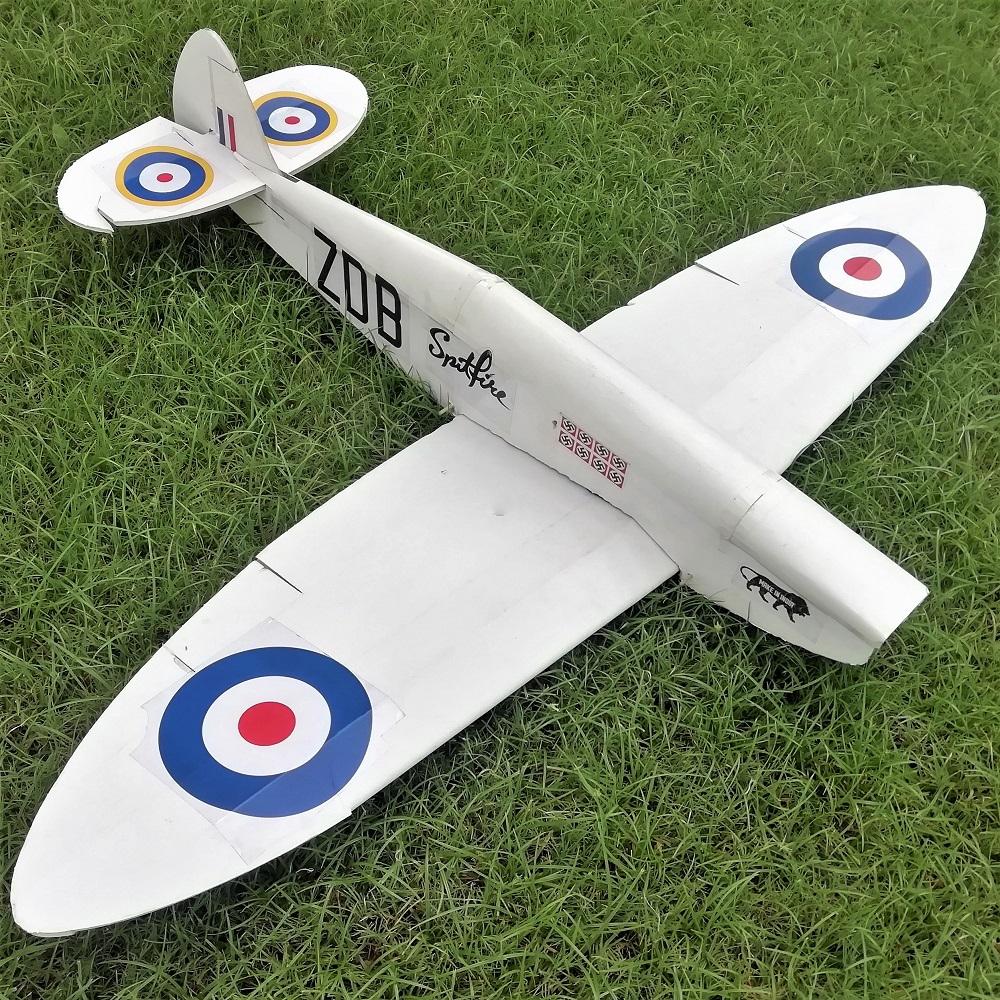 Ft Spitfire Laser Cut Foamboard Speed Build Kit Vortex Rc