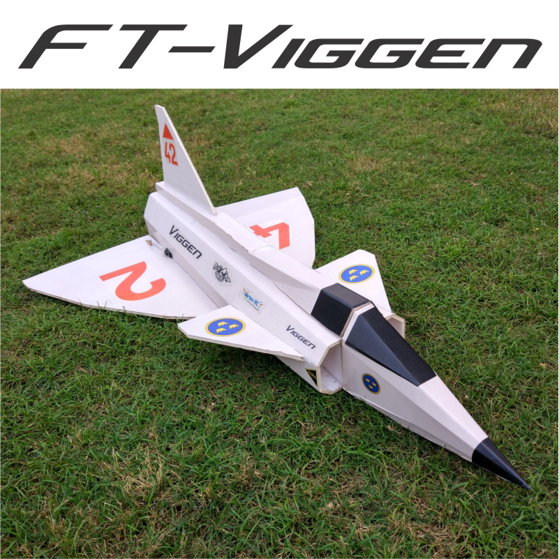 Ft Viggen Laser Cut Foam Board Speed Build Rc Plane Kit