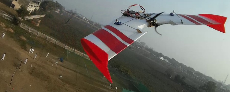 TuffBirds Microbee FPV EPP Flying Wing Close- Chase