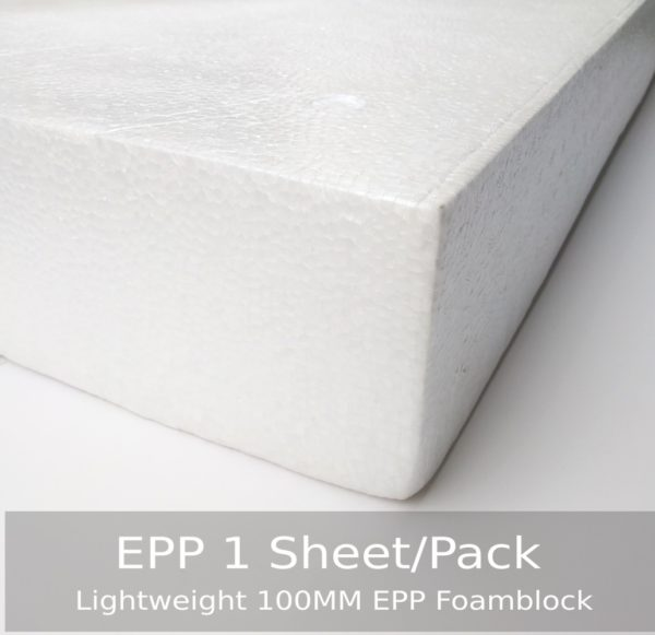 100MM EPP Foam Block 1000x600 MM White