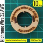 Nichrome wire – For Hot wire Foam cutting (10 Meters) 32AWG. High quality.