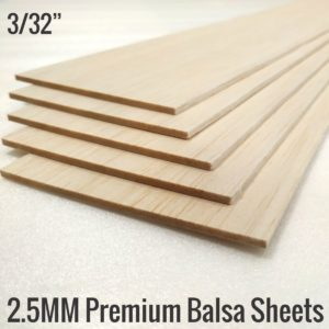 2.5MM Balsa Sheet 100x1000mm