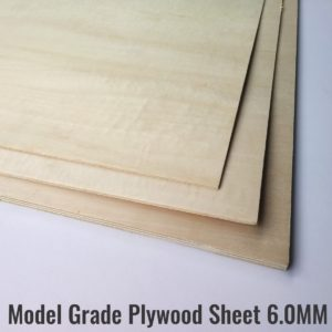 6MM Model Grade Plywood Sheets Laser Ply
