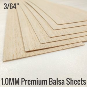1MM Balsa Sheets