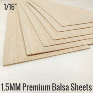 1.5MM Premium Imported Balsa Sheets