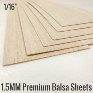 1.5MM Premium Imported Balsa Sheets