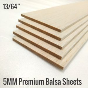 5MM Premium Imported Balsa Sheets