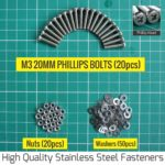 M3-20mm-Phillips-nuts-bolts-washers-fastners-set-by-vortex-rc