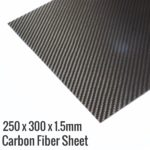 250x300x1.5 3K Carbon Fiber-Fibre Sheet
