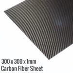 300x300x1mm 3K Carbon Fiber-Fibre Sheet