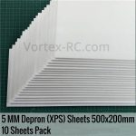 Vortex-RC-5MM,-500x200mm-Biofoam-Depron-Extruded-Polystyrene-Foam-Sheets-XPS-10-Sheets-Pack
